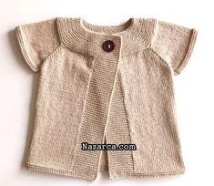 BEBE ROBALI LADY BEBE YELEK YAPIMI VİDEOLU | Nazarca.com Baby Knitting Patterns, Free Knitting, Fur Coat, Vest, Rompers, Clothes For Women, Lady, Crochet, Bikinis