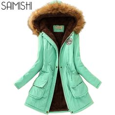 Parkas Women Coats Fashion Autumn Warm Winter Jackets Women Fur Collar Long Parka Plus Size Hoodies Casual Cotton Outwear Hot Ladies Hooded Coats, Coats For Women, Clothes For Women, Plus Size Hoodies, Fur Collar Coat, Winter Jackets Women, Warm Jackets, Long Parka, Hooded Parka