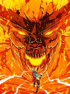 Surtur in Thor: Ragnarok. Marvel Villains, Marvel Dc Comics, Marvel Heroes, Marvel Avengers, Marvel Comic Character, Marvel Characters, Character Art, Marvel Universe, The Mighty Thor