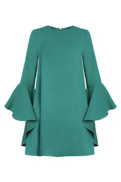 If you're as pale as me, you'll know that jewel tones are a go-to when it comes to shopping for that wedding grind. Check out the New Revival's Bell Sleeve Dress in a gorgeous emerald tone!