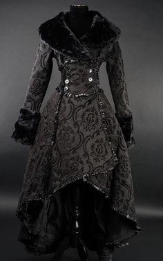 Damen Mantel Gothic Lolita Evil Queen Coat Victorian RQ Barock Dracula Black neu | eBay