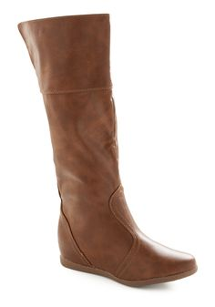 Time and Time Again Boots - Brown, Solid, Fall, Winter