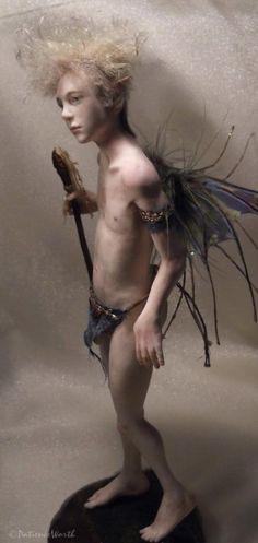 OOAK Art Doll Male Fairy Sculpt Fantasy ~Pixiworth
