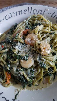 Pasta gamba e spinaci a la vapiano Pesto, Vape, Om, Spaghetti, Food And Drink, Ethnic Recipes, Smoke, Vaping, Spaghetti Noodles