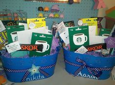 Coach gift card baskets