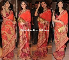 Shilpa Shetty in a sari by Tarun Tahiliani