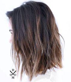 80 Sensational Medium Length Haircuts for Thick Hair - - Shaggy Straight Cut Lob