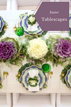 Easter Tablescapes. Easter Tablescape Inspo. Easter At Home. At Home Easter. Easter Brunch. Easter Brunch Ideas. Spring Tablescape. Spring Table Inspo. Cabbage Plant, Ornamental Kale, Tulip Table, Easter Table Settings, Paper Butterflies, Yellow Tulips, Easter Brunch, Brunch Ideas, Craft Stores