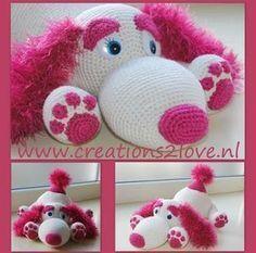 #Haakpatroon, Nederlands, Hondje Joy, amigurumi, knuffel, speelgoed, #haken Knitted Dolls, Crochet Dolls, Diy Crochet, Crochet Baby, Crochet Ideas, Knitting Projects, Crochet Projects, Crochet Waistcoat, Toy Puppies