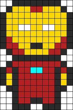 Iron Man Perler Bead Pattern Perler Bead Pattern | Bead Sprites | Characters Fuse Bead Patterns