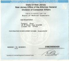 Licensed acupuncturist in NJ