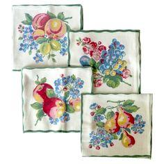 Vintage Cloth Napkins, Set of 4 #huntersalley