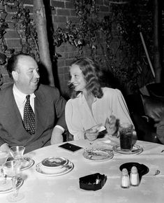 "ALfred Hitchcock and Tallulah Bankhead on the set of ""Lifeboat"", 1944"
