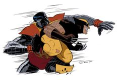 Fastball Special - Colossus and Wolverine by Paolo Rivera