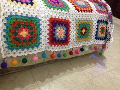 Colcha en crochet elaborada por Guela Mainieri
