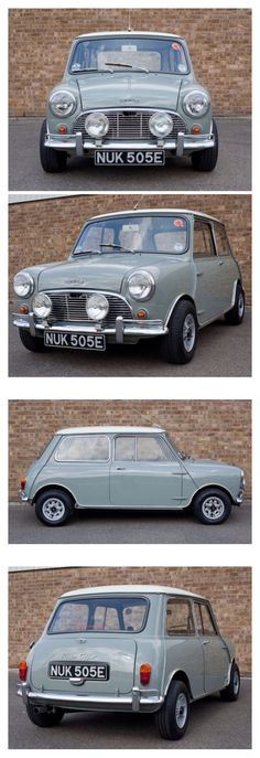 1967 Austin Mini Cooper, four wheel, fully independent suspension, based on rubber cones as non-linear springs. Retro Cars, Vintage Cars, Mini Cooper Clasico, Classic Mini, Classic Cars, Mini Morris, Austin Cars, Automobile, Classic Car Restoration
