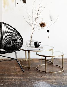 Coco Nesting Round Glass Coffee Tables | Round glass coffee table ...