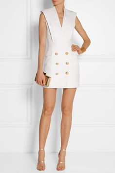 BALMAIN Twill mini dress €3,095.00 http://www.net-a-porter.com/products/512676