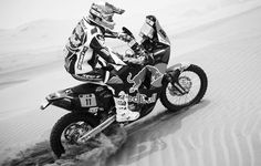 Redbull KTM Enduro Motorcycle Racing In The Dakar Rally