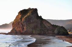 Lion Rock, New Zealand, Piha Beach. Filmed Xena: Warrior Princess right here!!!