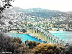 Tasman Bridge Hobart Tasmania Australia #treasuredtravel