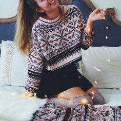 christmas print sweater