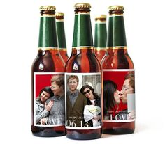 Photo Beer Labels | Sweet—not sappy—presents for the special man in your life. Find more great gifts for everyone on your list.