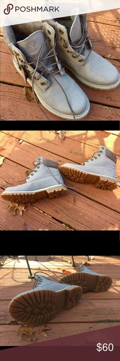 NWT, Timberland, Grey StealToe shoes Anti-Fatigue Never ever worn! I loved these shoes and I bought them but they just don't fit in with my style, they are a size 6 and all tags are still on them! Timberland Shoes Combat & Moto Boots