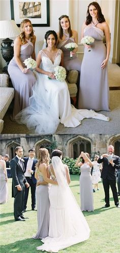A-line Halter Sleeveless Long Chiffon Bridesmaid Dresses With Pleats, BD0613#bridesmaids #bridesmaiddress #bridesmaiddresses #dressesformaidofhonor #weddingparty #2020bridesmaiddresses