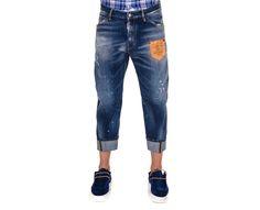 Denim Work Wear Etiqueta Cuero Delantero, Dsquared2 - Mi and Mall