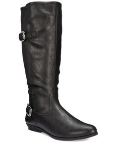 Cliffs by White Mountain Finalist Wide Calf Boots