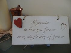 Shabby Chic Valentines Day Sign Wooden Sign with Heart by Crafu