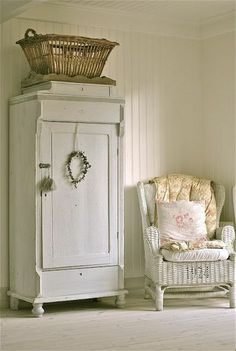 I have always liked vintage and shabby chic linen cabinets and armoires.