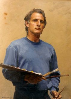 Self Portrait - Robert Hannaford was born and bred in rural South Australia Australian Painters, Australian Artists, Artist Painting, Figure Painting, Portrait Art, Portrait Paintings, People Art, Cool Paintings, Figurative Art