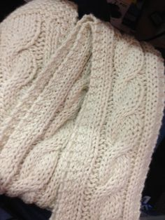Raising a Yarn Store: Easy Chunky Cabled Scarf