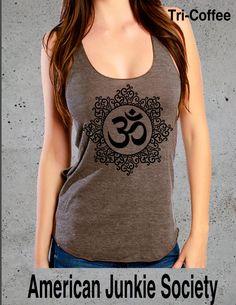 OM Symbol Yoga Tanks Tops'__Fitness Apparel(Yoga Clothes)~Om Clothing,Savasana Hot Yoga racerback yoga shirt American Apparel Top Women by AmericanJunkieSoc on Etsy https://www.etsy.com/listing/234278617/om-symbol-yoga-tanks-topsfitness