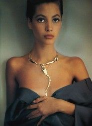 Christy Turlington wearing the iconic Elsa Peretti x Tiffany & Co. scorpion necklace