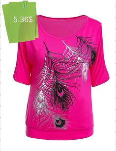 Stylish Printed Scoop Neck Short Sleeves Cold Shoulder T-Shirt For Women