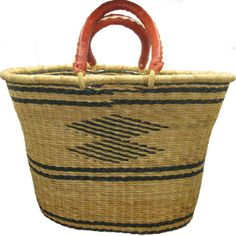 African Bolga Tapered Oval Basket Large #2 African Hats, Felted Soap, Fair Trade Clothing, Large Baskets, Zulu, Tango, Straw Bag, Reusable Tote Bags, Zulu Language
