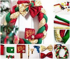 MENTŐÖTLET - kreáció, újrahasznosítás: Fonott karácsonyi koszorú