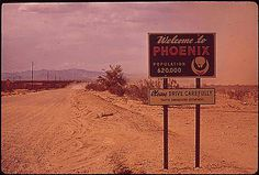 Approaching Phoenix, 1972.  Photo from Environmental Protection Agency.