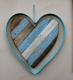 Reclaimed Wooden Heart - Rustic - Shabby - Home Decor - Wall Hanging - Art - Large Size on Etsy, $225.00