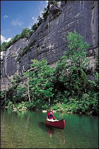 The Buffalo River, the nation's first National River, near Yellville, Arkansas