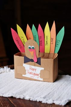 Cereal Box Turkey - Fun Family Crafts