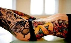Sexy Thigh Tattoo Designs and Ideas for Girls22.1