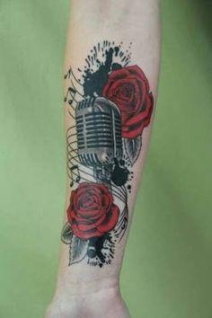 Resultado de imagem para microfone antigo tattoo