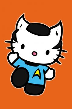 Illogical its #Hello Kitty as #Mr. Spock from #Star Trek
