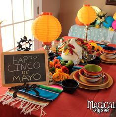 Cinco de Mayo Celebration #tablescape #party #cinco #mexican #fiesta Magical Giggles