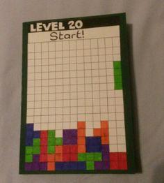 Tetris card for Brother's 20th Birthday.
