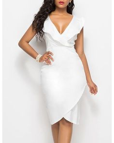 Necklines For Dresses, Types Of Dresses, Little Dresses, Sexy Dresses, White Dresses For Women, Sheath Dress, Bodycon Dress, Prom Dress, Azul Real